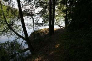 Kallio lähellä nuotiopaikkaa